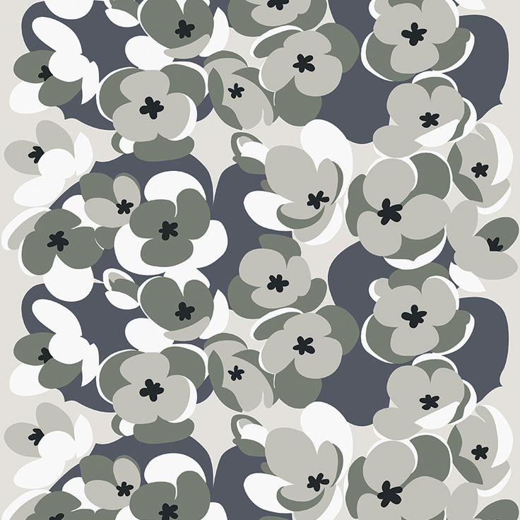 Sinivuokko Silver // Metsovaara Premium Print collection from Materialised www.materialised.com  #metsovaara #print #collection #premium #pattern #textile #fabric #interiordesign #materialised