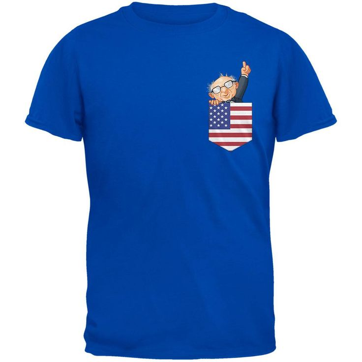 Pocket Pet Bernie Sanders Royal Adult T-Shirt