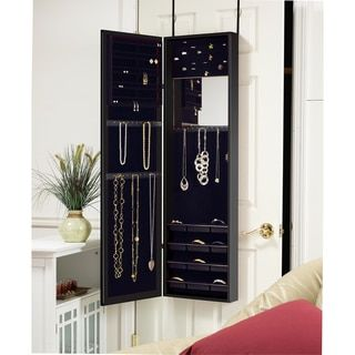 Shop for Black Over-the-Door Mirrored Jewelry Armoire. Get free shipping at Overstock.com - Your Online Home Decor Outlet Store! Get 5% in rewards with Club O!