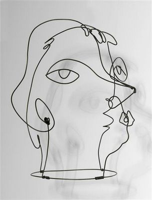 Art Inconnu - Little-known and under-appreciated art.: Alexander Calder modelling Kiki of Montparnasse, 1929