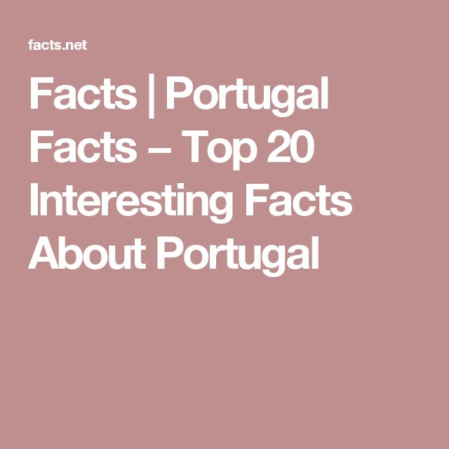 Facts | Portugal Facts − Top 20 Interesting Facts About Portugal