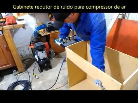 Gabinete anti ruído para compressor de ar  -  Air compressor noise isolation box - VÍDEO 01 - YouTube