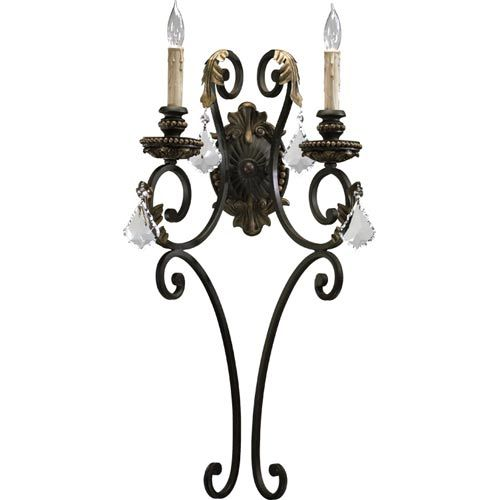 Rio Salado Two Light Toasted Sienna With Mystic Silver Sconce Quorum International 2 Light