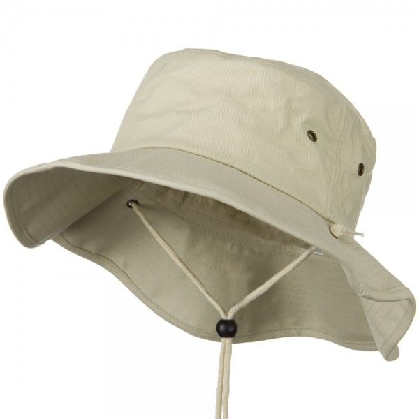 Outdoor - Stone Big Size Cotton Australian Hat // e4Hats
