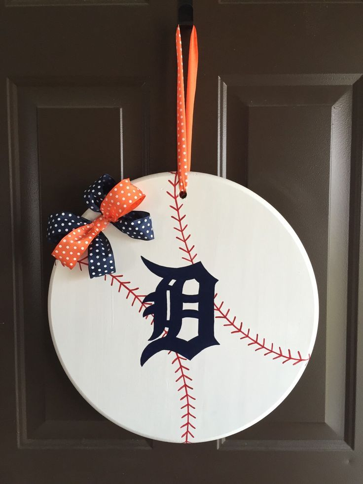 A personal favorite from my Etsy shop https://www.etsy.com/listing/231687195/detroit-tigers-baseball-door-hanger