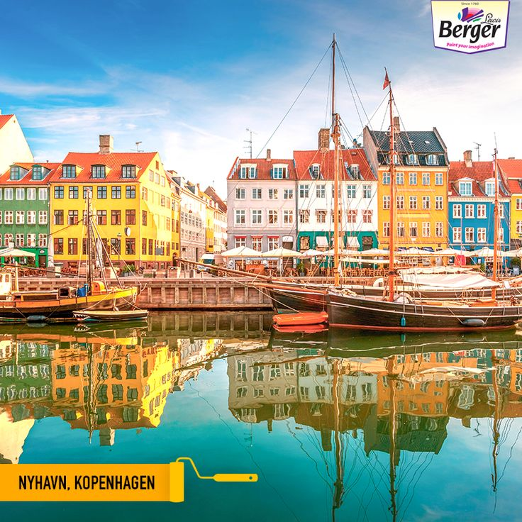 Nyhavn, a 17th-century waterfront, canal and entertainment district in Copenhagen, Denmark, is lined by brightly coloured 17th and early 18th century townhouses and bars, cafes and restaurants, which are a cheerful sight to see. #ColourfulWorld