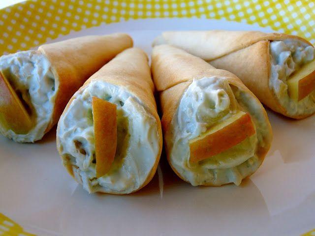 La cocina de Piescu: Cucuruchos rellenos de quesos, nueces y manzana
