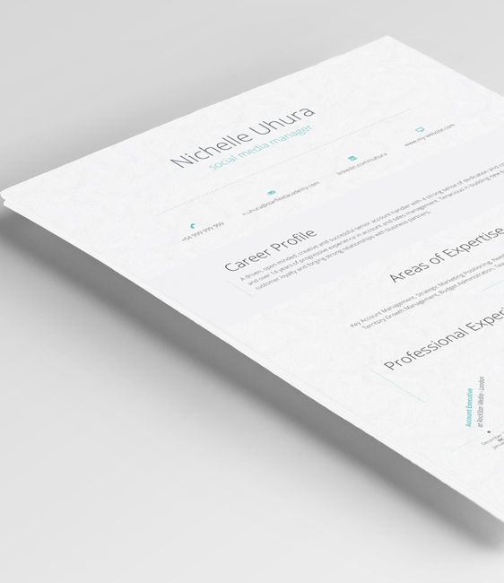 The Antlia Resume features a unified composition described by elegant and clean features.   #Resume #Template #ResumeWritingServices #CV #ResumeTemplate #Career