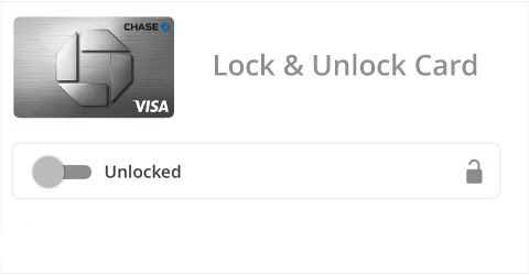 Image of Chase Visa® card capability to lock and unlock your