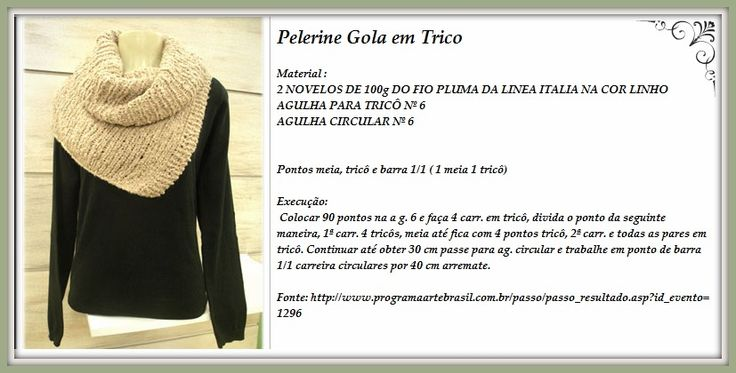 Gola+Pelerine+Trico+Receita.jpg (827×420)