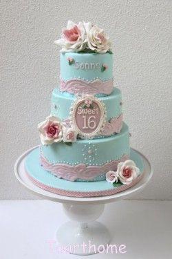 Sweet 16 & 18 taart