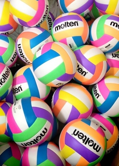 `Check out this years newest Volleyballs. Volleyball is a great way to keep the entire body in shape. Consider taking up the sport today.