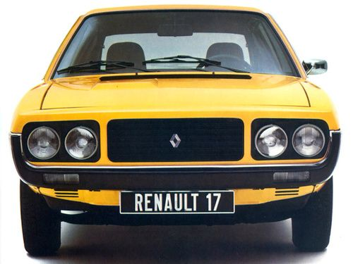 Renault 17 - yellow car