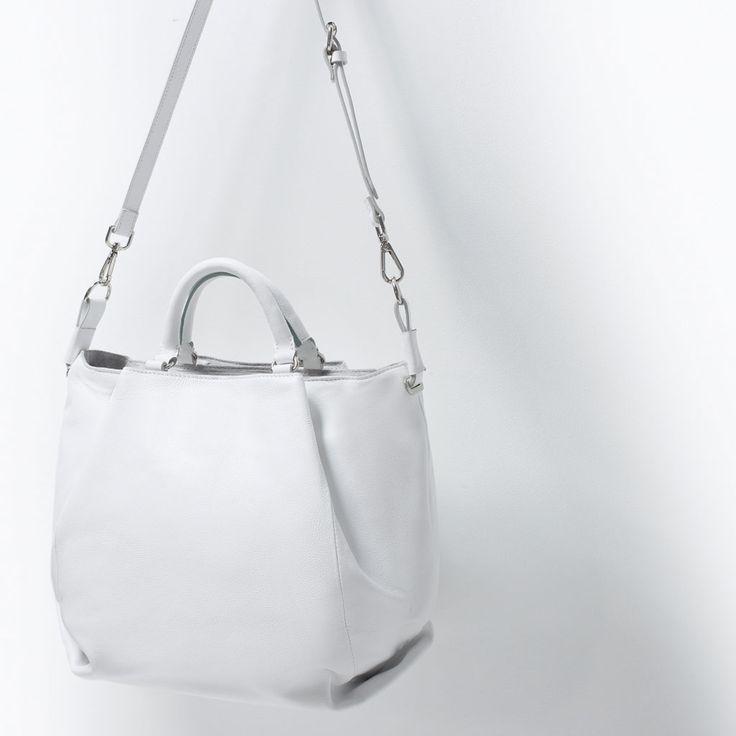 LEREN SHOPPER MET PLOOIEN-Grote tassen-Handtassen-DAMES   ZARA Nederland