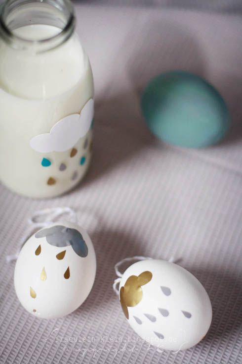 Pimp je paasei - Raincloud easter eggs by Miss Klein #regen