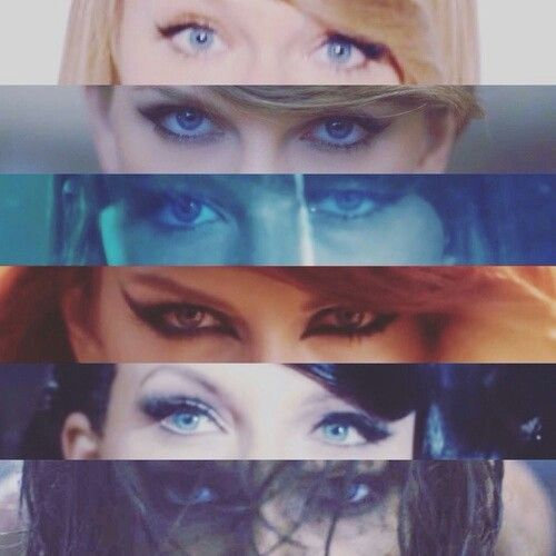 In order of music video release date: Shake it Off. Blank Space. Style. Bad Blood. Wildest Dreams. Out of the Woods.