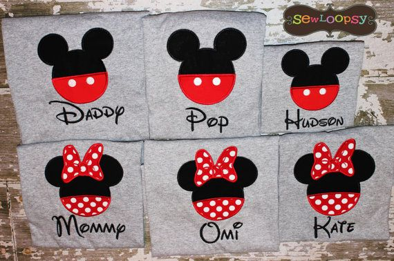 6 Family Vacation Shirts  Personalized  Applique by SewLoopsy, $120.00