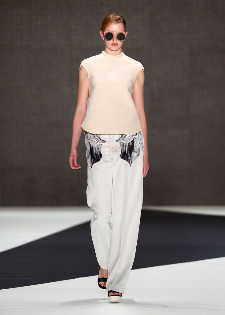 Look 19: Bloom Blouse with Gunner Trousers
