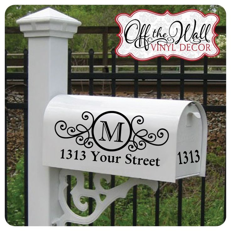 Mailbox Vinyl Decals {Jane Deals}