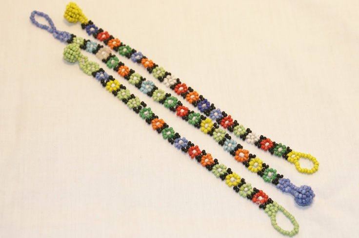 South African flower bead bracelet