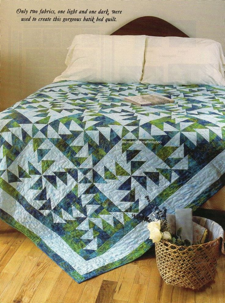 Triple Pinwheels Quilt Pattern Pieced LF