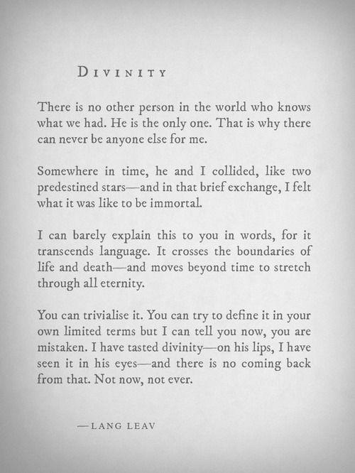 Lang Leav - Divinity