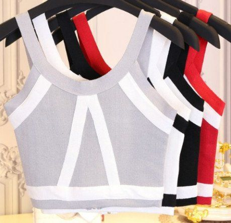 TOP KNITWEAR SHORT SLEEVELESS