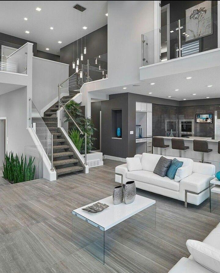 modern interior silver white sofa tall chairs