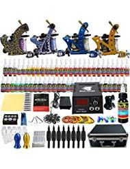 Solong Tattoo Kit 1 Tattoo Machine 54 Inks Power Supply Pedal Needles Grips Tips …  – Beauty