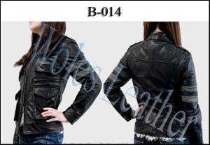 Model Jaket Kulit Wanita Residen Evil; Kode: B-014