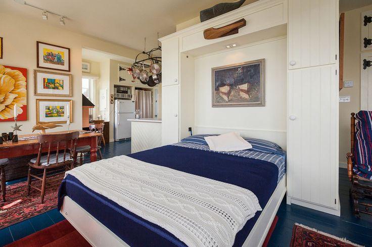 Murphy bed in guest room