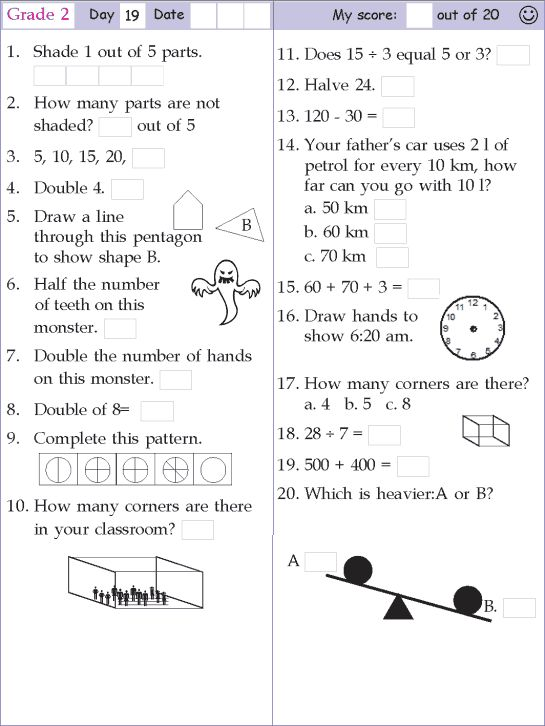 mental math grade 2 day 19 mathematics pinterest math grade 2 and mental maths. Black Bedroom Furniture Sets. Home Design Ideas