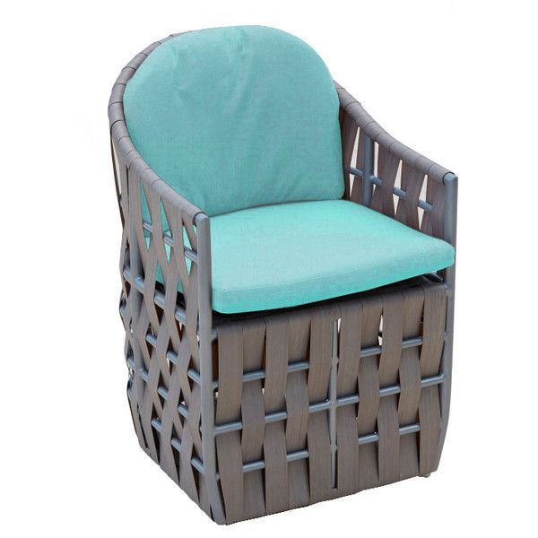 Skyline Design Strips Chair Aruba w/Cushion Liner ($805) ❤ liked on Polyvore featuring home, outdoors, patio furniture, blue, woven outdoor furniture, contemporary patio furniture, outdoor garden furniture, outdoor patio furniture and all weather patio furniture