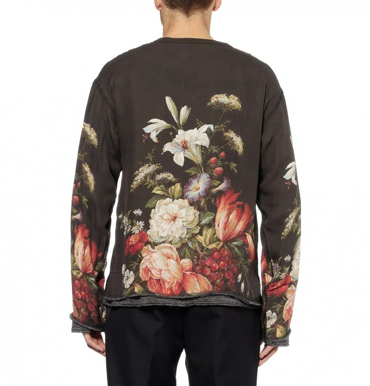 Dolce & Gabbana Oversized Jersey-Lined Printed Silk T-Shirt  Dolce & Gabbana's evocative collection featured an array of printed silk T-shirts, and this version comes with a rich painterly still life. Cut for an oversized fit and lined with a sub grey jersey, this piece has a relaxed feel that...Check http://www.creativeboysclub.com/dolce-gabbana-oversized-jersey-lined-printed-silk-t-shirt