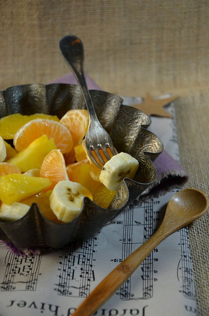 Salade de fruits d'hiver au sirop d'érable // Winter fruits salad