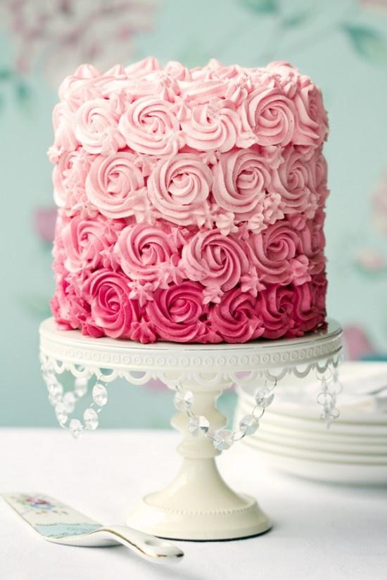 recipe: ombre rosette cake recipe [12]
