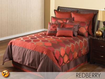 King 10 Pc Comforter Set (Red Ikat), Redberry by Hallmart