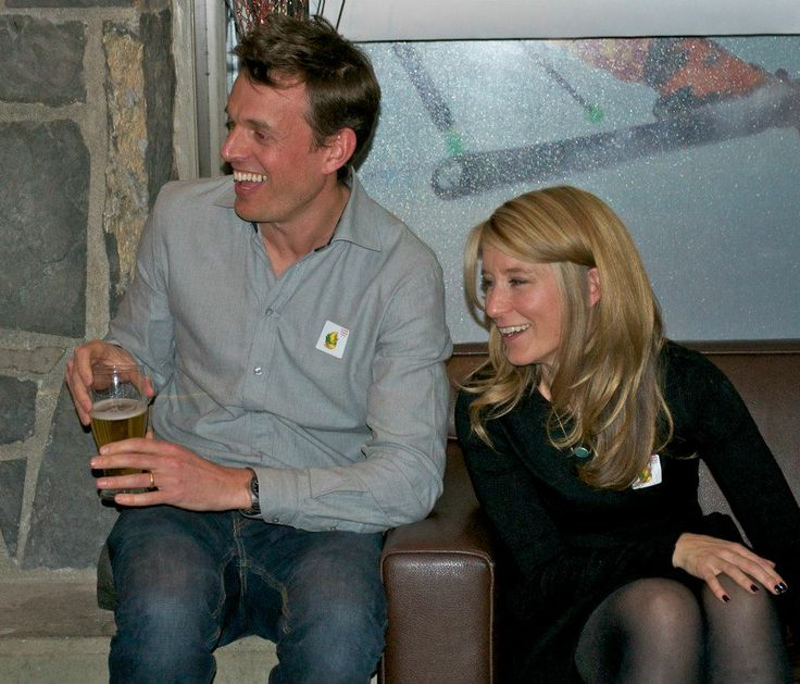 Co-founders and husband and wife team, John and Leah at the Dragons' Den viewing party.