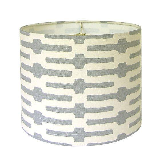 Lamp Shade Lampshade Links by Annie Selke Slate by CruelMountain, $55.00