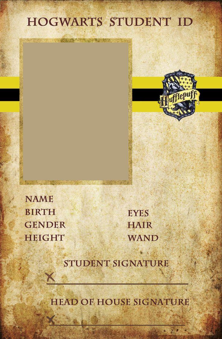 hufflepuff id card