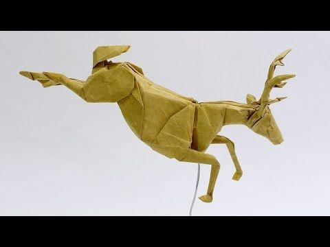 Learn how to make a jumping origami deer with large detailed antlers. You can do a lot with this model. Try folding it many times with various papers. Check ...