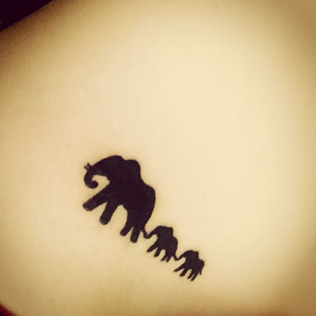 Elephant family tattoo!