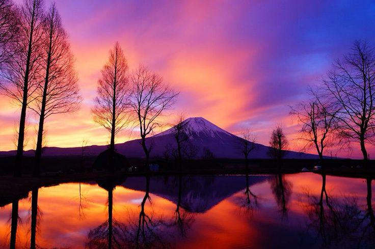 Mt Fuji Japan.