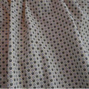 couture, tissu, popeline, motifs géométriques, mastic et vert kaki