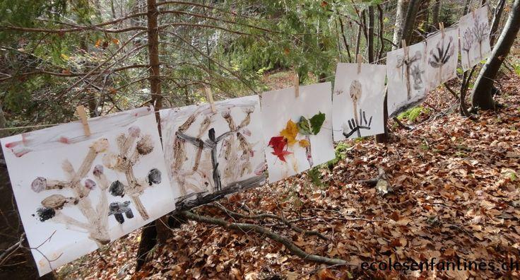 Peinture naturelle à la forêt