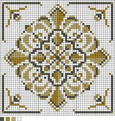 Square Motif Needlepoint Pattern