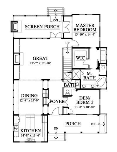 191 best acadian house plans images on pinterest cottage for Small acadian house plans