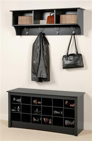 Entryway Storage Bench And Wall Cubbies | Interior Decorating Tips