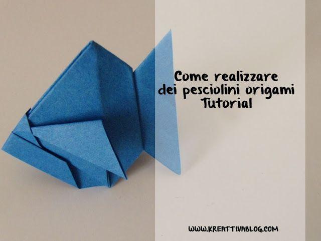 come realizzare un pesce origami