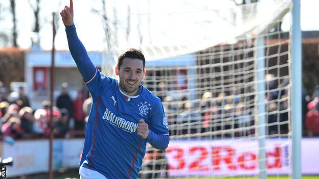 Workmanlike Rangers defeated Brechin City 2-1, but it came at a cost with injuries to Nicky Law and Ian Black. Nicky Clark headed the winner after Fraser Aird's opener as Rangers move 32 points clear in League One.